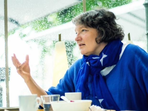 Monika Fagerholm. Kuva: Aleksis Salusjärvi